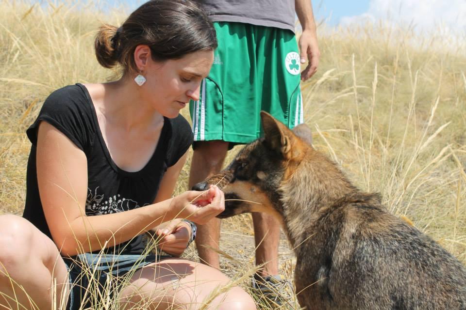 Ainhioa Luengo , curso intensivo de terapia asistida con animales 2013