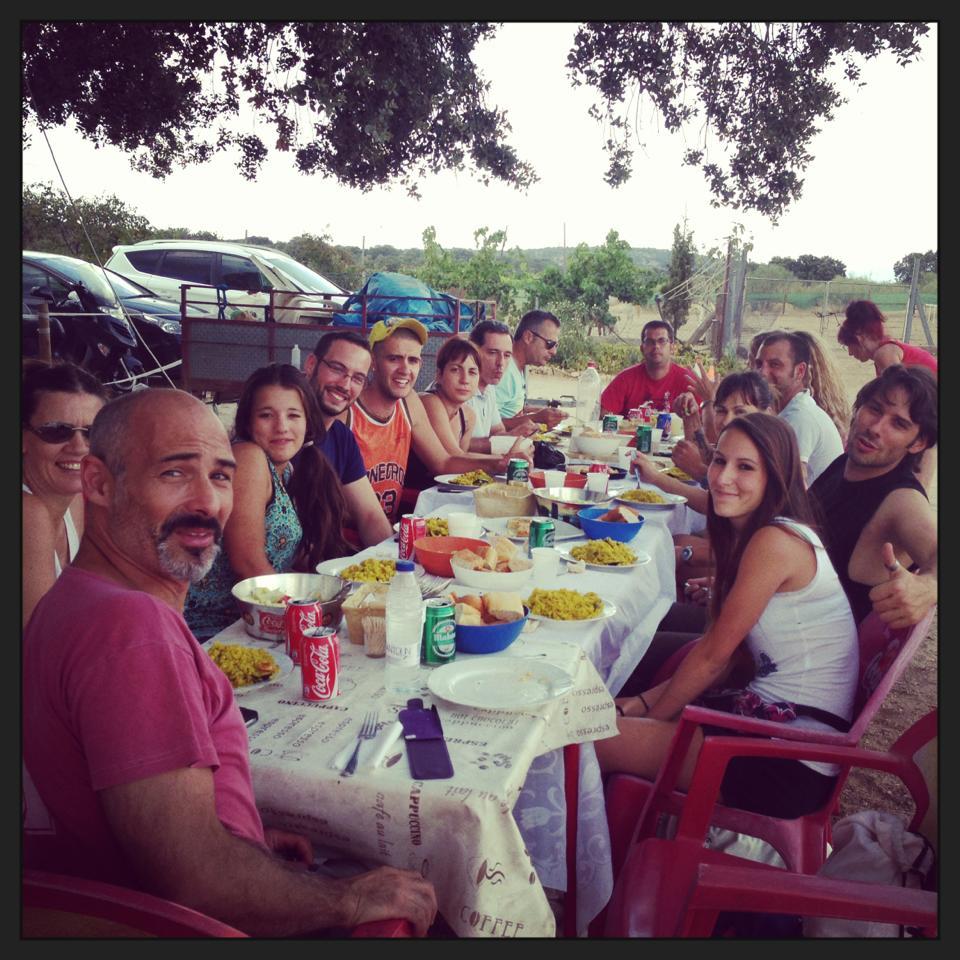 comida campera final de curso intensivo adiestradores EFPC 2013 Madrid